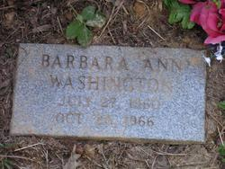 Barbara Ann Washington