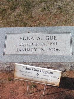 Edna A <i>Gue</i> Baggott