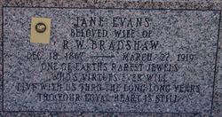 Jane <i>Evans</i> Bradshaw