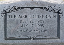 Thelmer Louise Cain