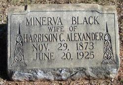Minerva Elizabeth <i>Black</i> Alexander