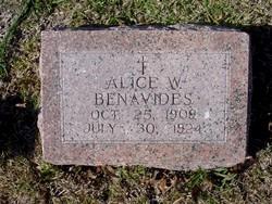 Alice W Benavides