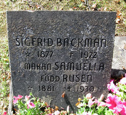 Fredrika Samuela <i>Rus�n</i> Backman