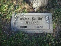 Elsie Bell <i>Baillif</i> Schaaf
