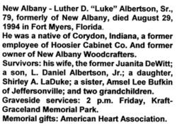 Luther Daniel Luke Albertson, II