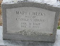 Mary Frances <i>Meeks</i> Adams