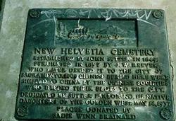 New Helvetia Cemetery (defunct)