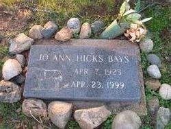 JoAnn <i>Hicks</i> Bays