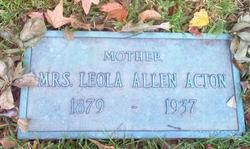 Leola <i>Allen</i> Acton