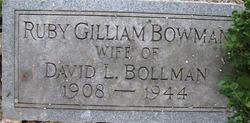 Ruby Gilliam <i>Bowman</i> Bollman