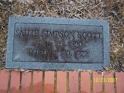 Sallie <i>Simpson</i> Scott