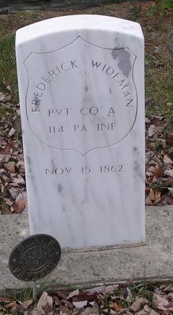 Pvt Frederick Wideman