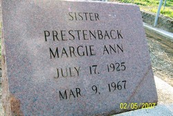 Margie Ann Prestenback