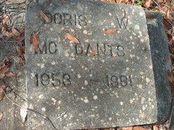 Doris W McCants