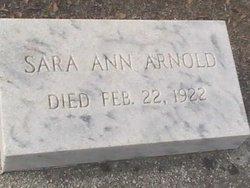 Sara Ann Arnold