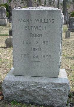 Mary Willing Burwell