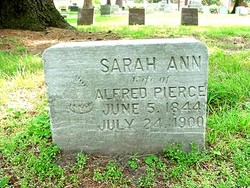 Sarah Ann <i>Potter</i> Pierce
