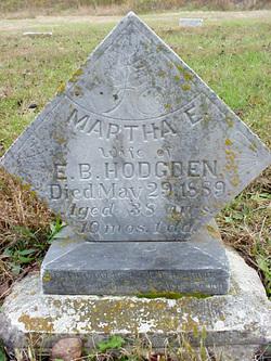 Martha Ellen <i>Chambers</i> Hodgden
