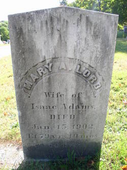 Mary A <i>Lord</i> Adams