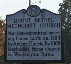Mount Bethel Methodist Church Cemetery