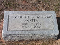 Elizabeth <i>Schaeffer</i> Martin