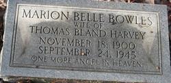 Mrs Marion Belle <i>Bowles</i> Harvey