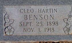 Cleo Ophelia <i>Hartin</i> Benson
