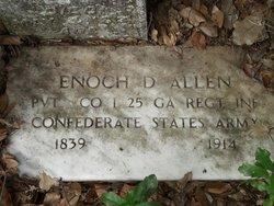 Pvt Enoch D Allen