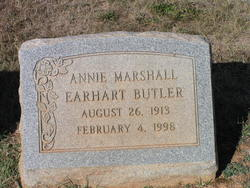 Ann Elizabeth Annie <i>Marshall Earhart</i> Butler