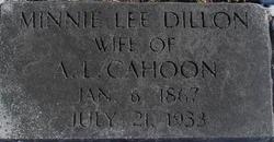 Minnie Lee <i>Dillon</i> Cahoon