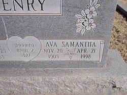 Ava Samantha <i>McWilliams</i> Henry
