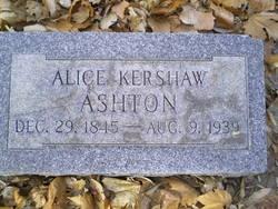 Alice <i>Kershaw</i> Ashton