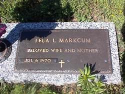 Lela L <i>Melton</i> Markcum