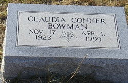 Claudia <i>Conner</i> Bowman
