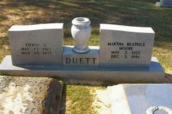 Martha Beatrice Bea <i>Moore</i> Duett