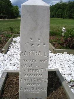 Martha L. Susan <i>Moore</i> Merritt