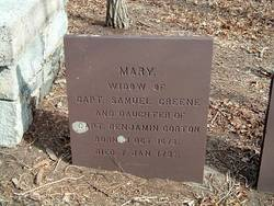 Mary <i>Gorton</i> Greene