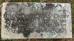 Pvt Edward Thomas Chupp