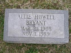 Allie <i>Howell</i> Bryant
