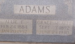 Grace <i>McAfee</i> Adams