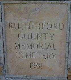 Rutherford County Memorial Cemetery