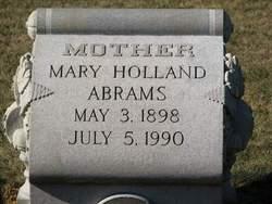 Mary <i>Holland</i> Abrams