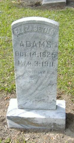 Elizabeth Strange <i>Thomas</i> Adams