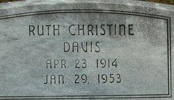 Ruth Christine <i>Franklin</i> Davis