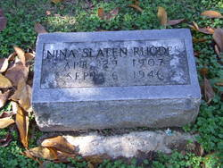 Nina Louise <i>Slaten</i> Rhodes