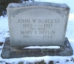 Mary E. <i>Heflin</i> Burgess