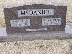 Helen C <i>Barnes</i> McDaniel
