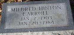 Mildred <i>Hinton</i> Carroll