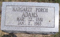 Margaret <i>Porch</i> Adams