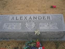 Sarah Birdell <i>Grindstaff</i> Alexander